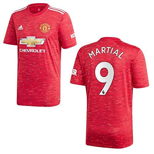 adidas Manchester United Trikot Home Herren 2021 - Martial 9, Größe:L