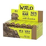 4+ NUTRITION - Walo Crockbar, Suplemento Deportivo, Barritas Proteicas, Sin Grasas Hidrogenadas, con Proteínas de Suero, Sabor Chocolate con Leche, 30 piezas