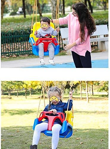 WWXXCC Outdoor-Schaukel, Kinderschaukel Indoor Outdoor 3 in 1 Baby-Schwingen im Freien Hängesessel Baby-Schaukelsitz einfach einzurichten Seils Baum hängend