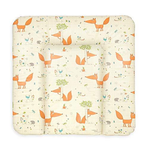 Ceba Baby Wickelauflage Wickelunterlage Wickeltischauflage 70x75 cm Abwaschbar - Fuchs 70 x 75 cm
