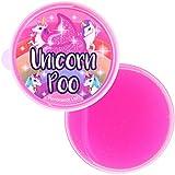 The Home Fusion Company Licorne Caca Rose Paillettes Slime Mastic Tube Squishy Soulage le Stress Jouet Enfants