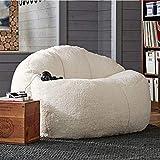 EKWQ Sack Bean Bag for Adults Kids Teens Big Lamb Velvet Bean Bag Sofa Set Lazy Sofa Bed unfilled Children's Adult Balcony Corner Fluffy Cushion (Does not Contain Filler) ( Color : 80x100CM Single )
