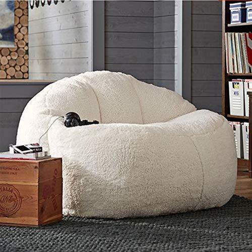 jidan Durable Comfortable Bean Bag Chair Big lamb velvet bean bag sofa set lazy sofa bed unfilled children's adult balcony corner stool fluffy cushion (Color : 80x100CM single)
