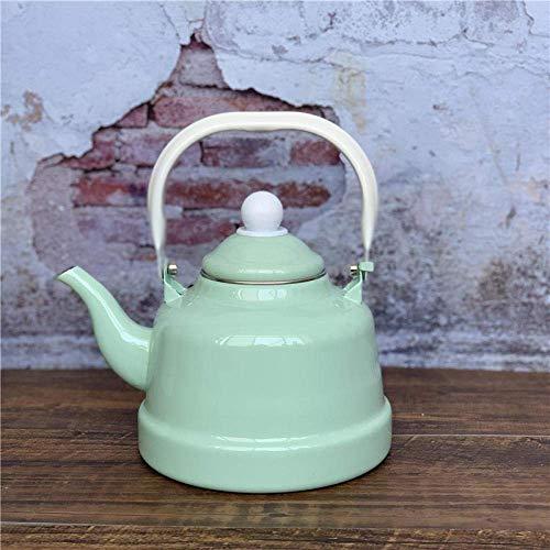 HYY-YY Teesets, emaillierter Wasserkocher, antiker Uhrentopf, kühles Mintgrün, reines Pulver, Restaurant, Restaurant, Wasser, Retro-Stil
