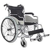 JHDPH3 Silla de ruedas plegable ultraligera, mayores de edad avanzada, los niños con discapacidades portátil portátil plegable de la carretilla autopropulsada silla de ruedas Frenos Aluminiumtravel ma