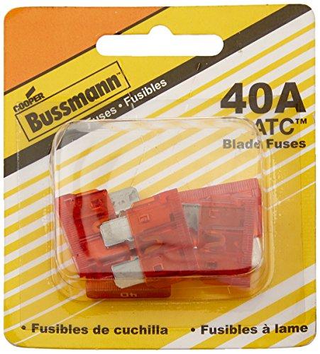 Bussmann (BP/ATC-40-RP 40 Amp ATC Blade Fuse, Pack of 5, Orange