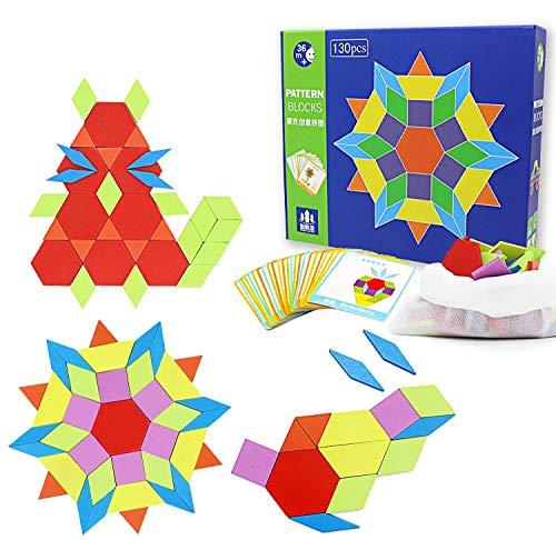 Joy-Jam Modello in Legno Blocchi Forme Geometriche Giocattoli Educativi Regalo per Bambini