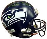 Authentic Autographed Russell Wilson Seattle Seahawks Super Bowl Riddell Football Helmet SB XLVIII Champs In Green RW ~ NFL Football Helmets