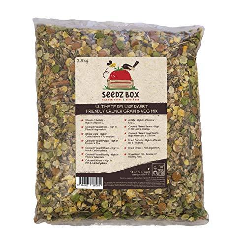 Luxus Kaninchen Hase Knusperfutter Getreide & Gemüse Futter, 2,5 kg Beutel, Seedzbox Rabbit Food