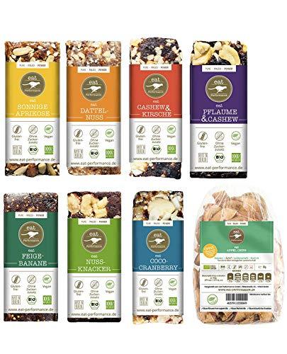 eat Performance® Vegan Box (7 Riegel, 1 Apfelchips) - Bio, Paleo, Glutenfrei Aus 100% Natürlichen Zutaten