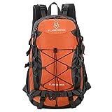 TOMSHOO - Zaino impermeabile da 40 l, per attività all'aria aperta, campeggio, arrampicata, ciclismo, viaggi, zaino da viaggio, borsa per uomini e donne, Colore: arancione.