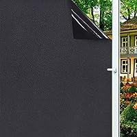 JINRAN 取り外し可能な100%ブロック静的光トータルブラックアウトウィンドウフィルムプライバシー・カメラ暗くウィンドウブラックティントウィンドウステッカー (Size : 75x100cm)