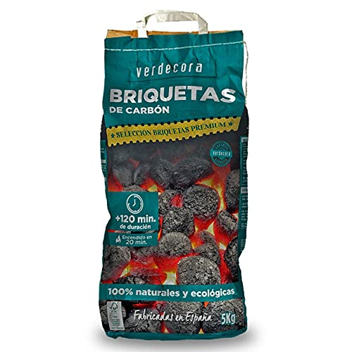 Briquetas de carbón premium Verdecora 5 kg (Portes Incluidos)