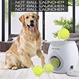 4pawslife Automatic Dog Feeder, Interactive Dog Ball Fetch and Treat...