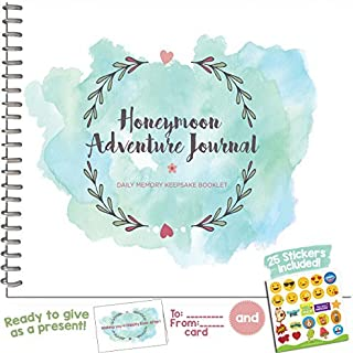 Honeymoon Adventure Journal for Couples - The Perfect Photo Album Gift for Newlyweds That Includes Emoji Stickers and a Matching Card - The Unique Memory Book You Need for The Best Trip of Your Life.