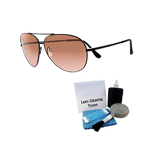 23b086ebe01 Serengeti 5222 Aviator Sunglass Lg. Aviator Black Frames Photochromic w  Care Kit