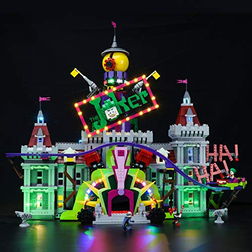 BRIKSMAX Kit de iluminación LED Lego DC El Joker Manor - Compatible con Lego 70922 Building Blocks Model- No incluir el Conjunto de Lego