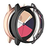 MOTONG for Samsung Galaxy Watch Active SM-R500 Protective Case - Full Coverage TPU Protective Case Cover Shell for Samsung Galaxy Watch Active SM-R500 (Black)