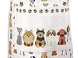 Küchenschürze für Frauen Damen Hundemotiv Kochschürze Baumwolle mit Taschen zum Kochen, Hund Geschenk für Hundeliebhaber - 3