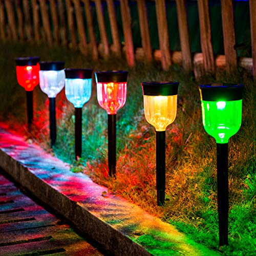 solar powered patio lights & 6 Pack Solar Lights