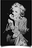 Fashion Decor Poster Marilyn Monroe Tattoo Synthetic Illustration Without Frame 80*60cm