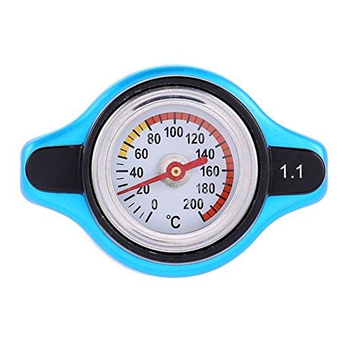 Everpert Cubierta universal para radiador de coche, medidor de temperatura de agua, medidor termostático (1,1 bar)