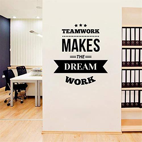 Muursticker slaapkamer sticker teamwork citaat geïnspireerd spreekwoord team Office Interior 30.5 x 30.5 cm