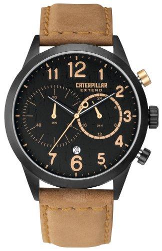 Caterpillar Extend Mens Cream Leather 24 Hour Date Watch EX.163.34.119