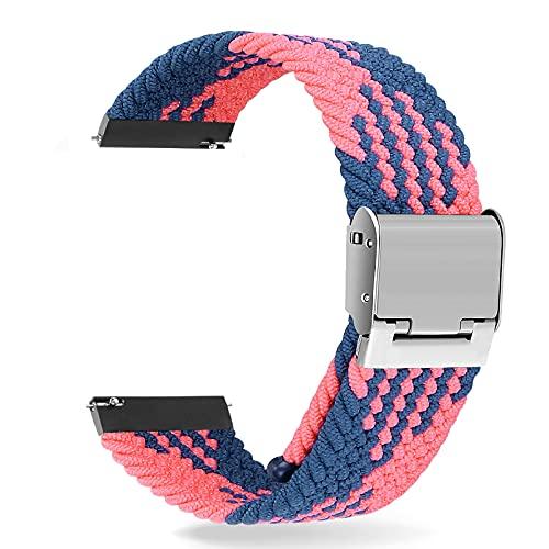 Correa universal de interfaz ancha Sunbose de 22 mm, estilo vers¨¢til, adecuada para muchas marcas de relojes inteligentes como Samsung, Huawei o Xiaomi.£¨Z-Azul / Rosa£