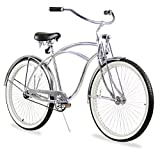 Firmstrong Urban Man LRD Single Speed Beach Cruiser Bicycle, 26-Inch, Chrome