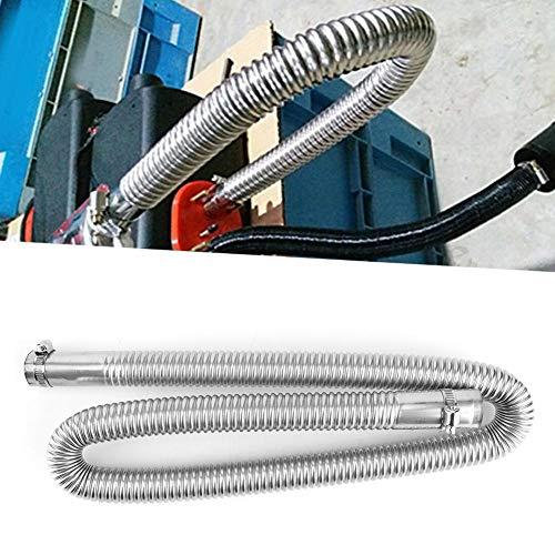 Kuuleyn Tubería para calefactor de estacionamiento, acero inoxidable plateado, calefactor de aire para estacionamiento, tubo de escape, manguera de ventilación de gas diésel, diámetro interior (120cm)