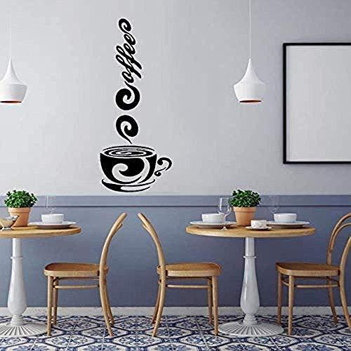 Muurstickers muurschilderingen Decals Koffie Bekers Ontwerp Theekopjes Kamer Vinyl Art Zelfklevende Keuken Decor 17X42cm