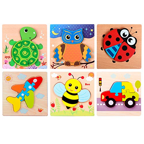Wooden Puzzle Toys Educational Toys for Boys and Girls Montessori Toys Suitable for16 Years Old Children Preschool Education Gift Game