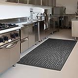 "Anti-Fatigue Mat Kitchen Rubber Floor Mats Bar Floor Mat NEW Indoor Commercial Heavy Duty Drainage Floor Bath Mat Black 36"" x 60"" Door Mat"