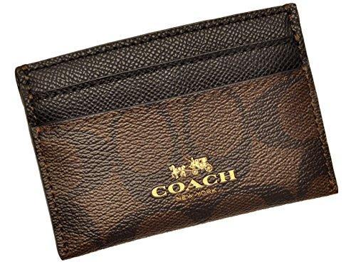 [コーチ] COACH 小物 (カードケース) F63279 ブラウン×ブラック IMAA8 シグネチャー メンズ レディース [ア...