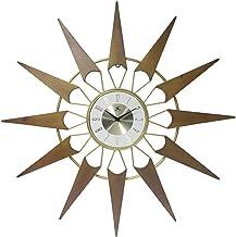 Infinity Instruments Nova Starburst Gold Wall Clock Vintage Mid Century Starburst Clock 31 inch Extra Large 50s 60s Mid Ce...