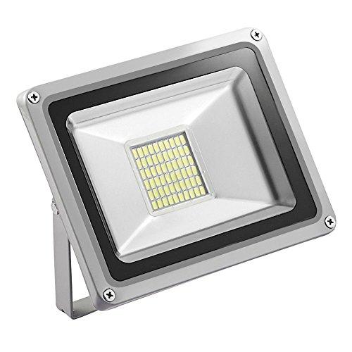TEquem LED 12V DC 10W 20W 30W LED Außenstrahler Wasserdicht IP65 Aluminium Strahler Flutlicht Wandstrahler [Energieklasse A+] (kaltes Weiß, 30W)