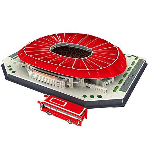 rrff Rompecabezas Clásico Arquitectura Madrid Atletismo Estadios De Fútbol Juguetes Modelos A Escala Juegos Papel De Construcción 343X261X68 Mm