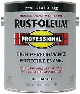 RUST-OLEUM K7776-402 K7776402 High Performance Oil Based Rust Preventive Protective Enamel Paint, 1 gal, Flat Black