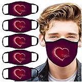 5 Stück Valentinstag Liebhaber Mundschutz Outdoor Anti-Beschlag Waschbar Atmungsaktiv Wiederverwendbar Motorrad Halstuch