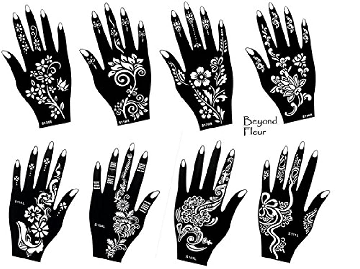 Tattoo Stencil Template 8 Different Sheet Set Fleur Pretty Suitable for Hand