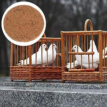 YARNOW 10 Pièces Tapis de Nid D'oiseau Coussin D'oeufs D'élevage Tapis de Nidification en Fibre de Coco Respirant pour L'élevage d'oiseaux de Pigeon de Course