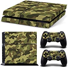 Gam3Gear Pattern Series Decals Skin Vinyl Sticker for PS4 Console & Controller (NOT PS4 Slim / PS4 Pro) - Green Camouflage