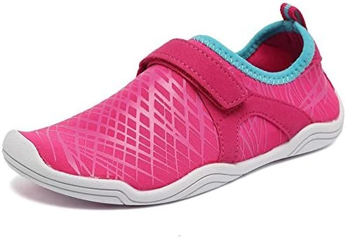 CIOR Boys & Girls Water Shoes Quick Drying Sports Aqua Athletic Sneakers Lightweight Sport Shoes(Toddler/Little Kid/Big Kid) DKSX-Pink-32