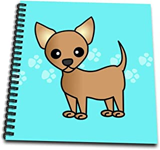 (12 by 12-Inch) - 3dRose db_12072_2 Cute Tan Chihuahua Blue Pawprint Background-Memory Book, 30cm by 30cm