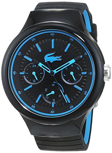 Lacoste 2010869 - Reloj análogico de cuarzo con correa de silicona unisex, color negro/azul