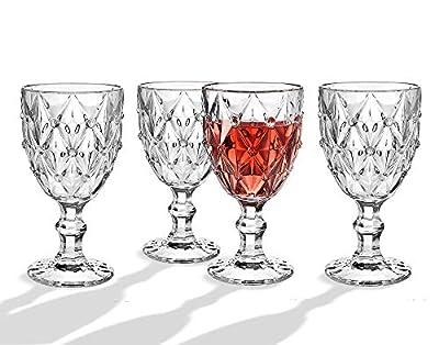 Glass Beverage Set Wine Goblet Water, Juice Cup - Set of 4
