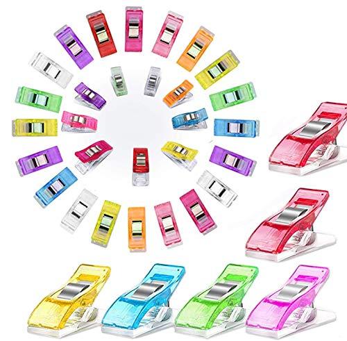 Pinzas de costura multiusos, 50 unidades, clips de tela de colores surtidos para suministros de costura, accesorios de acolchado, herramientas de manualidades, acolchado, manualidades