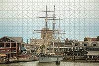 カナダレイクルイーズジグソーパズル大人用1000ピース木製トラベルギフトお土産-Pt-00246