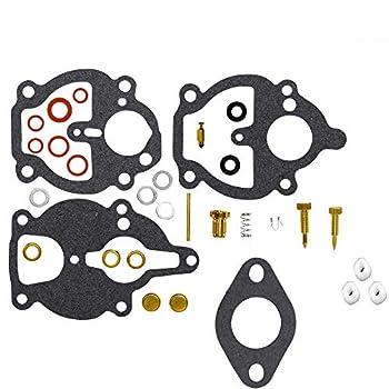 CQYD New Carburetor Carb Rebuild Repair Kit for Zenith Carburetor 61 161 67 68 IH Farmall Wisconsin Allis Replace # K2112 K2111 K2106